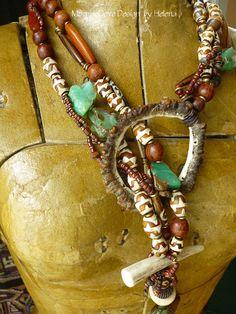 Grand Canyon Antler and Stone Primal, organic design inspired lariat. ♥