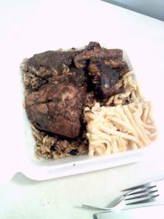 Or try one of the special meal deals like this one: Rice & Peas, Jerk Chicken, Macaroni Pie & Coleslaw!