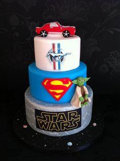 Satr Wars- Superman- Mustang Birthday Cake