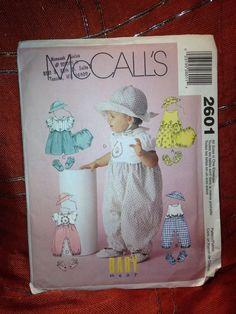 McCall's pattern 2601 Infants Dresst, Rompers, panties, shoes & Hat, UNCUT #McCalls