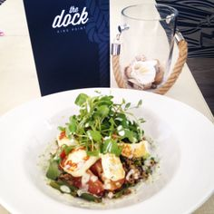 Grilled Halloumi, Green Bean, Tomato and Quinoa Salad #healthy #salad #thedockplymouth
