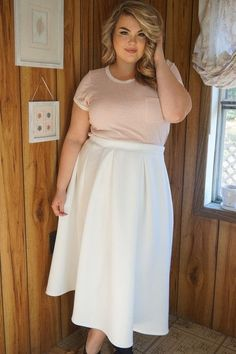 Plus Size Clothing for Women - Darling Midi Skirt for Learning To Be Fearless (Sizes 16 - 22) - Society+ - Society Plus - Buy Online Now!