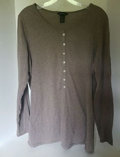 Women's Moda International Brown Long Sleeve Button 100% Cotton Blouse XL | Clothing, Shoes & Accessories, Women's Clothing, Tops & Blouses | eBay!