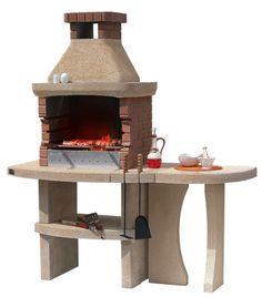 Really like this brick grill Outdoor Oven, Outdoor Cooking, Barbecue Grill, Grilling, Brick Grill, Outdoor Entertaining, Backyard, Garden Design, Outdoor Decor