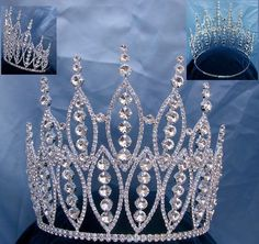 Queen of The 7 Seas RHINESTONE BEAUTY PAGEANT RHINESTONE CROWN TIARA 7 IN TALL Reina De Los Siete Mares ( Queen of The Seven Seas ) Inspired by tales of the sea, mermaids, godesses and legends of far