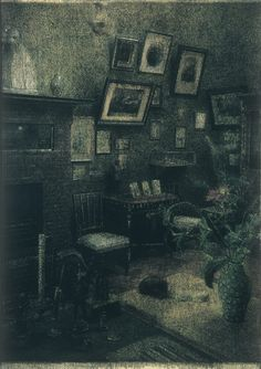 Francesco Balsamo ~Gruppo di famiglia in un interno On the lower right hand there appears to be a body laying face down with dark hair...