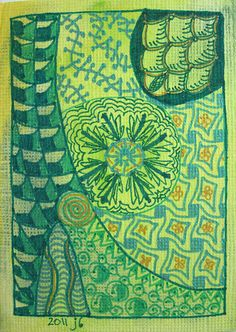 GreenAroundTheGills by Ruby OpalTones #doodles #green