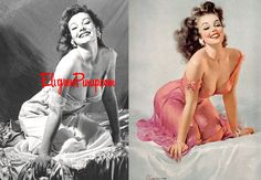 Vintage Pin-ups Before and After #vintage #pinups