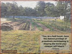 Joel Salatin quote with an image from Flannel Farms