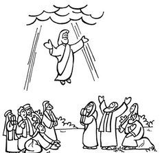 Ascension of Jesus Coloring Pages  Jesus ascension to heaven