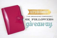 Thank you for everything  I am always in awe of your generous support. To celebrate I wanted to do a giveaway for our amazing followers. One winner will win a fuchsia colored patent leather Filofax Original in Personal Size. Filofax has by far the best quality leather in ring bound style planners that I have seen! I love them and I'm sure you'll love them too :) . . Here are the rules! . . You must be a follower of this account Repost this picture and tag @theorganizingcompanion and use…