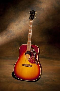 "Gibson Hummingbird - this guitar has a very balanced sound and is great for recording. Very few maple back and side versions were made in this period that overlapped the Dove model.  This guitar can be heard on the Sloe Gin album on a song called… ""Around the Bend""."