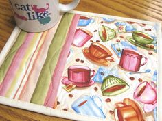 Use the coffee bean/cups fabric I have. PC