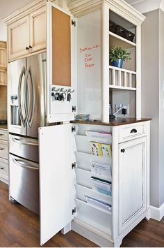 Would love to do this in my kitchen - moving the fridge from its current location