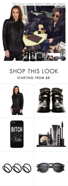"""""""Day Out in London Getting Coffee with Eleanor"""" by elise-22 ❤ liked on Polyvore featuring Calder, Yves Saint Laurent, LORAC and ASOS"""