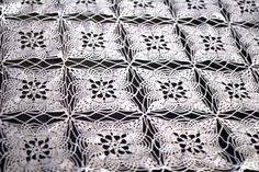 Hand crochet cotton white square lace tablecloth by katerynaG, $495.00