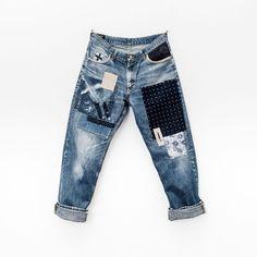 "Reposting @bluerootsofficial: ... ""R E P A I R E D • L E E @Leejeans_nl / @HansJellema / ✂️ @SietaJellema"" Denim jeans pant selvedge"