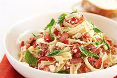Bacon, Tomato & Ricotta Pasta