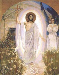 Resurrected Christ by Michael Nesterov, 1862-1942, Russian art