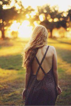 TYSA Leigh Dress stun in the sunlight // backless is better