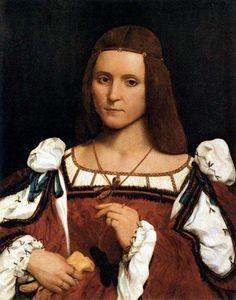 Caroto Giovanni Francesco, Portrait of a woman, maybe it's Isabella d'Este, 1505-1510