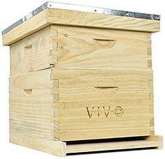 Amazon.com : Complete Beekeeping 20 Frame Beehive Box Kit (10 medium 10 Deep) Langstroth Bee Hive from VIVO (BEE-HV01) : Garden & Outdoor