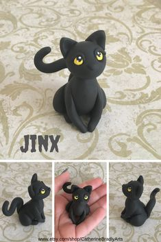Polymer clay cats are now up for adoption in the shop on Etsy! # handmadegifts Catherine Bradly Arts by CatherineBradlyArts Lara Schlemmer laraschlemmer Cat Supplies Polymer clay cats are now up for Polymer Clay Cat, Sculpey Clay, Polymer Clay Figures, Polymer Clay Sculptures, Polymer Clay Animals, Sculpture Clay, Clay Art Projects, Polymer Clay Projects, Polymer Clay Creations