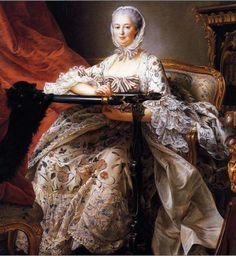Madame de Pompadour Vêtue d'une robe en indienne Par François-Hubert Drouais (1764) Londres, National Gallery