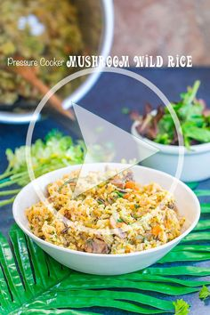 Easy Mushroom and Wild Rice made in the pressure cooker is a comforting vegan dinner recipe #healingtomato #wildrice #mushroom #pressurecooker #quick #vegan #veganrecipes Quick Rice Recipes, Wild Rice Recipes, Easy Healthy Recipes, Quick Meals, Frozen Vegetable Recipes, Roasted Vegetable Recipes, Mushroom Recipes, Pasta Dinner Recipes, Clean Eating Recipes For Dinner