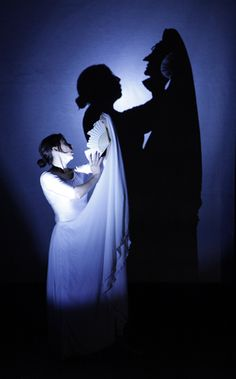 Showing revelation in shadow. The resurrection stone The tale of the three brothers Shadow Art, Shadow Play, Beyond The Lights, Shadow Theatre, Ghost Light, Marionette Puppet, Shadow Puppets, Scenic Design, Stage Design
