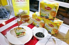 Cuisine Paradise   Singapore Food Blog - Recipes - Food Reviews - Travel: Singapores First Pop-up Lipton High Tea Bar @ Plaza Singapura Atrium ~ Lipton Citrus Tea with Traditional Salmon and Cucumber Sandwich set