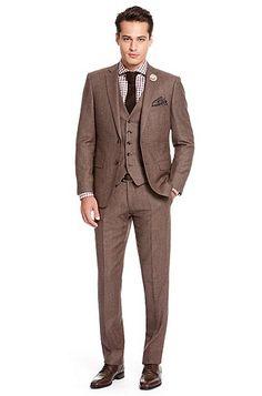 Hugo Boss 'Howard/Court' 3-Piece Suit, Dark Red/Brown. I love Hugo Boss