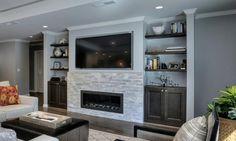 Bedroom fireplace, basement fireplace, home fireplace, living room with . Living Room Decor Fireplace, Basement Fireplace, Custom Fireplace, Home Fireplace, Living Room Tv, Fireplace Design, Fireplace Ideas, Fireplaces, Basement House