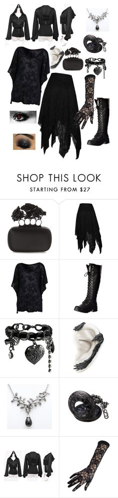 """goth"" by greene1250 ❤ liked on Polyvore featuring Alexander McQueen, Miss Selfridge, Rocket Dog and GUESS"