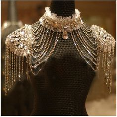 Fashion bride chain accessories rhinestone shoulder strap lace bride wedding dress necklace crystal shoulder strap on Etsy, $75.00