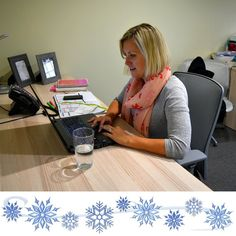 Our co-founder Sarah Rutka is hard at work! The excitement of our charity may be most obvious during December - but it takes a year-round effort to make it happen!