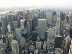 New York Manhatten skyscrapers taken from Empire State Building