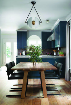 When choosing your blue kitchen cupboards, there are literally a whole bunch of shades to choose from relying in your décor preferences. Choose one of the best ideas on your kitchen. Dark Blue Kitchen Cabinets, Dark Blue Kitchens, Kitchen Cabinet Colors, Kitchen Decor, Metal Tile Backsplash, Kitchen Backsplash, Backsplash Ideas, Kitchen Ornaments, Kitchen Installation