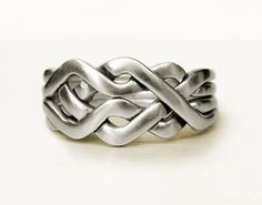 CELTIC - Unique Puzzle Rings by PuzzleRingMaker - Sterling Silver or Gold - 4 Bands