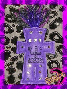Transitions and Justice Voodoo Veve Poppet Dolls with embroidered Veve for The Ghede ~ Baron Samedi