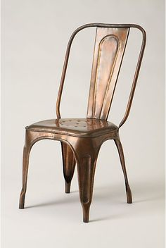 """Redsmith Dining Chair"" . copper . vintage . chair"