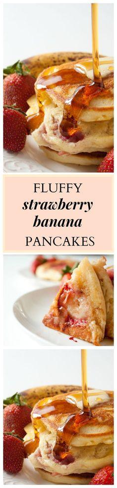 Strawberry Banana Pancakes Recipe