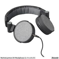 Knitted pattern DJ Headphones