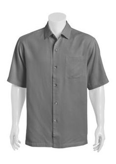 Tommy Bahama  San Clemente Short Sleeve Solid Woven Shirt