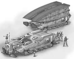 The Horatio Bridgelayer is a commission ( one of three so far...)by Steven Satak for his Battletech TRO project. You can visit him and find out more here, I decided to show the vehicle with and wit...