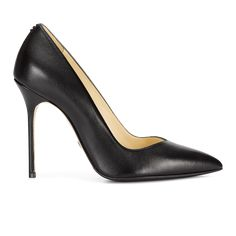 Perfect Pump 85 Size: IT 39 US 8.5 Color: Black Calf   Sarah Flint $50 off first purchase with code FLYSF