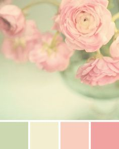 Colour Pallette, Colour Schemes, Color Combos, Paint Schemes, Green Palette, Pastel Palette, Mint Green Rooms, Pink And Green, Green Girl