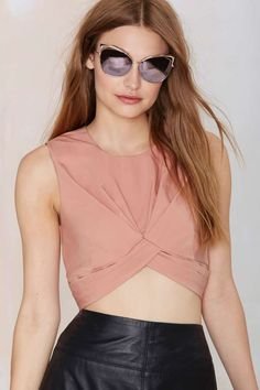 Nasty Gal Knot in Love Crop Top - Cropped | Tops | Newly Added |  | Tops