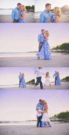 Gotta get photos of mom and dad as a couple too!  boston family photographer sunset beach portraits with parents by heidi hope photography