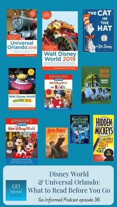 Universal Orlando and Disney World books to read before you go! Guide book and other reading suggestions to help you get ready for your trip to Orlando. Books make excellent gifts for anyone heading off on a Disney World or Universal Orlando vacation. Disney Cruise Tips, Walt Disney World Vacations, Disney Trips, Orlando Travel, Orlando Vacation, Orlando Disney, Universal Studios Florida, Universal Orlando, Disney Vacation Surprise